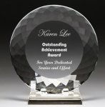 Corporate Crystal Facet Plates Sales Awards